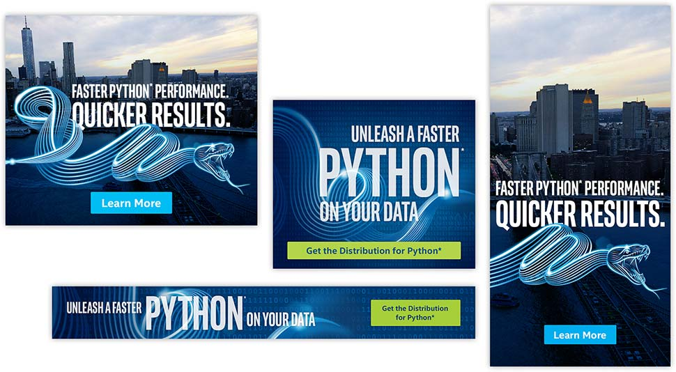 Python developer marketing campaign