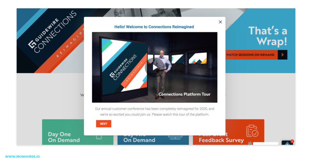 Example of a virtual event welcome video.